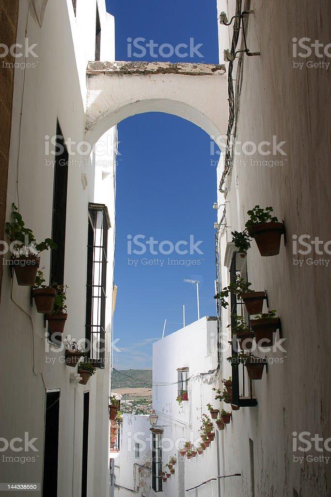 Spanish White Village - Arcos de la Frontera royalty-free stock photo