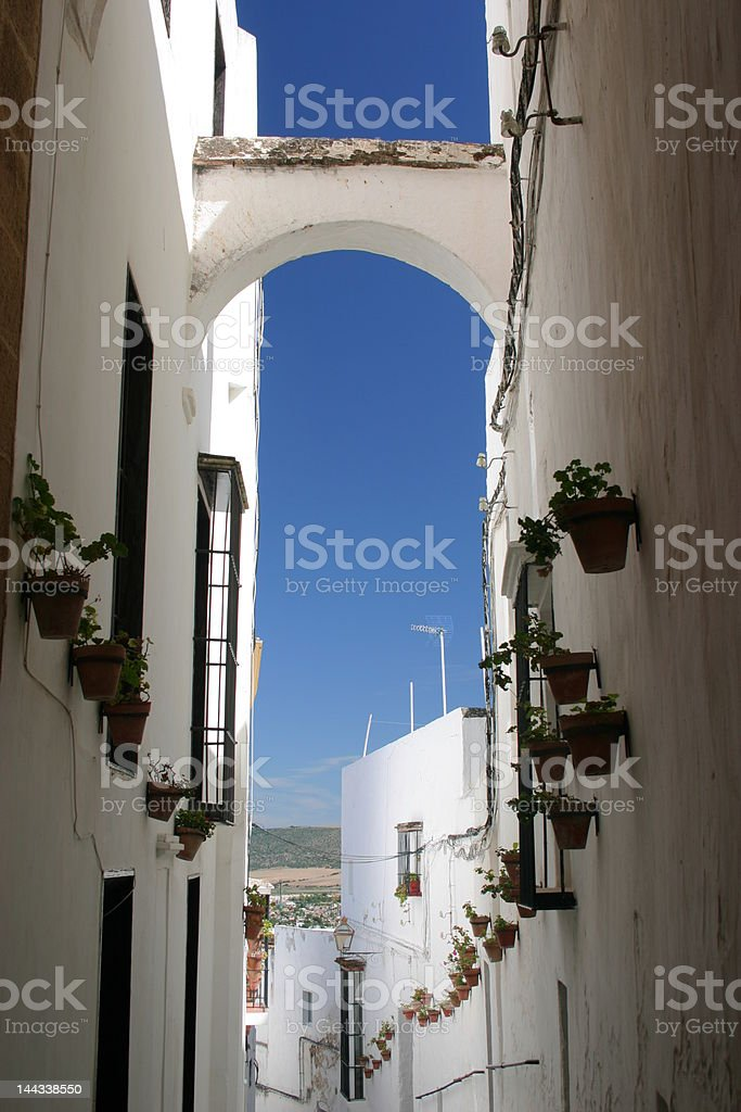 Spanish White Village - Arcos de la Frontera stock photo