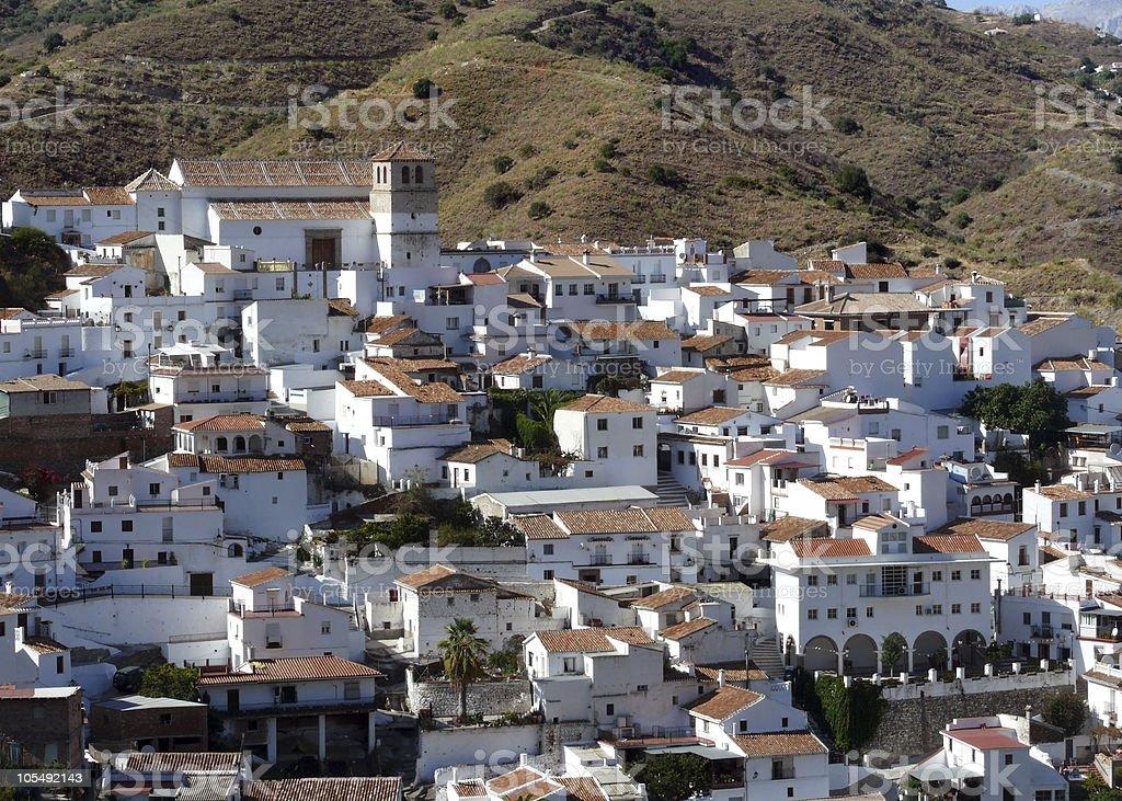 Spanische white village. Competa. Andalusien Lizenzfreies stock-foto