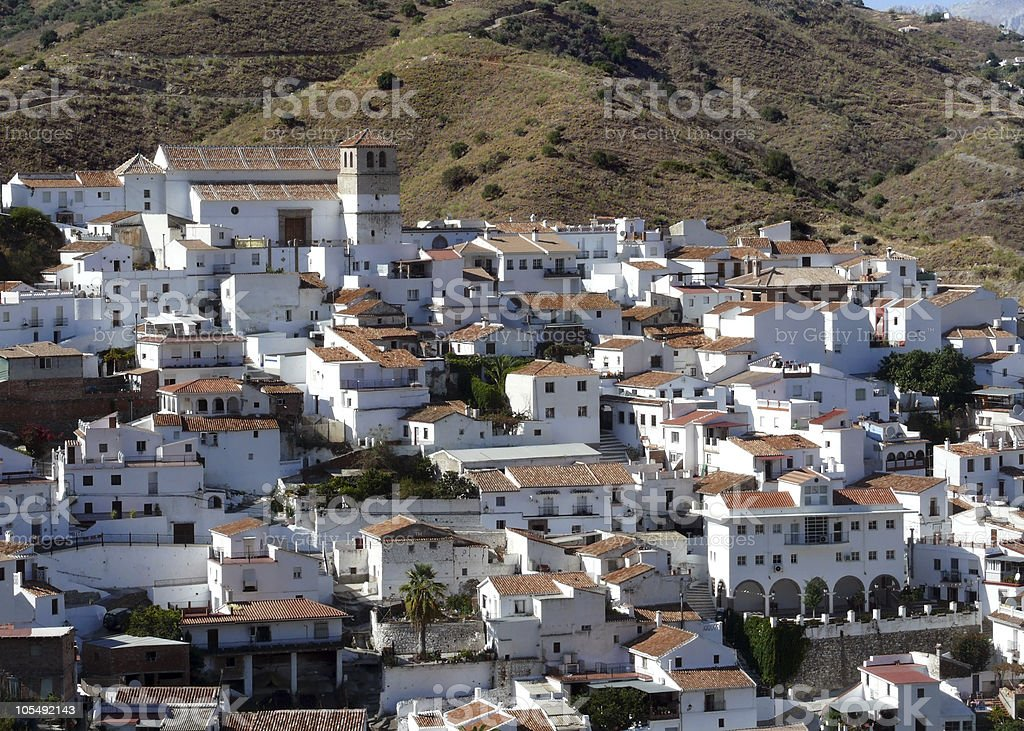 Spanish white village. Cutar. Andalusia stock photo