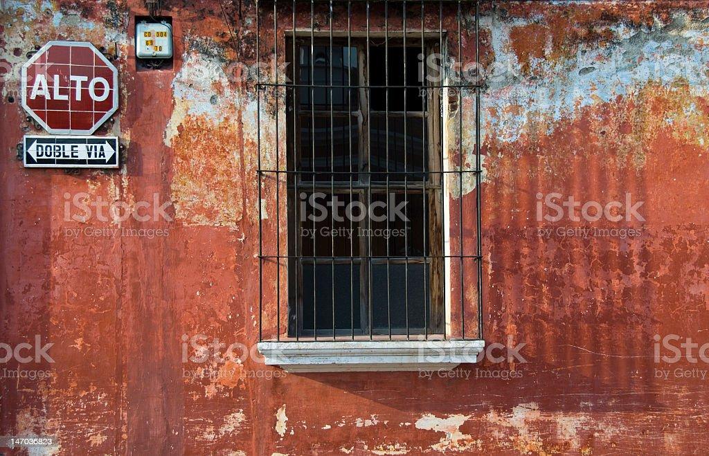 Spanish window with balcony royalty-free stock photo