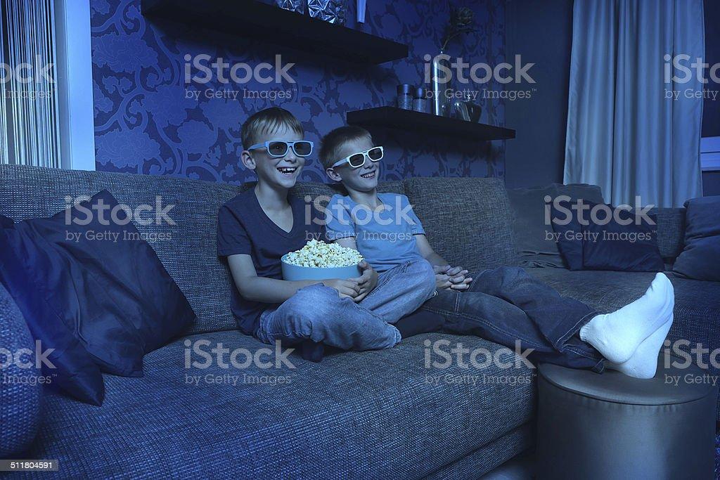 Spannende Unterhaltung mit 3D stock photo