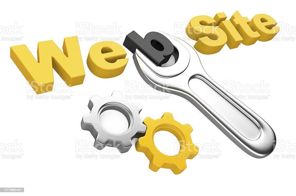 spanner and inscription 'Web site' royalty-free stock photo