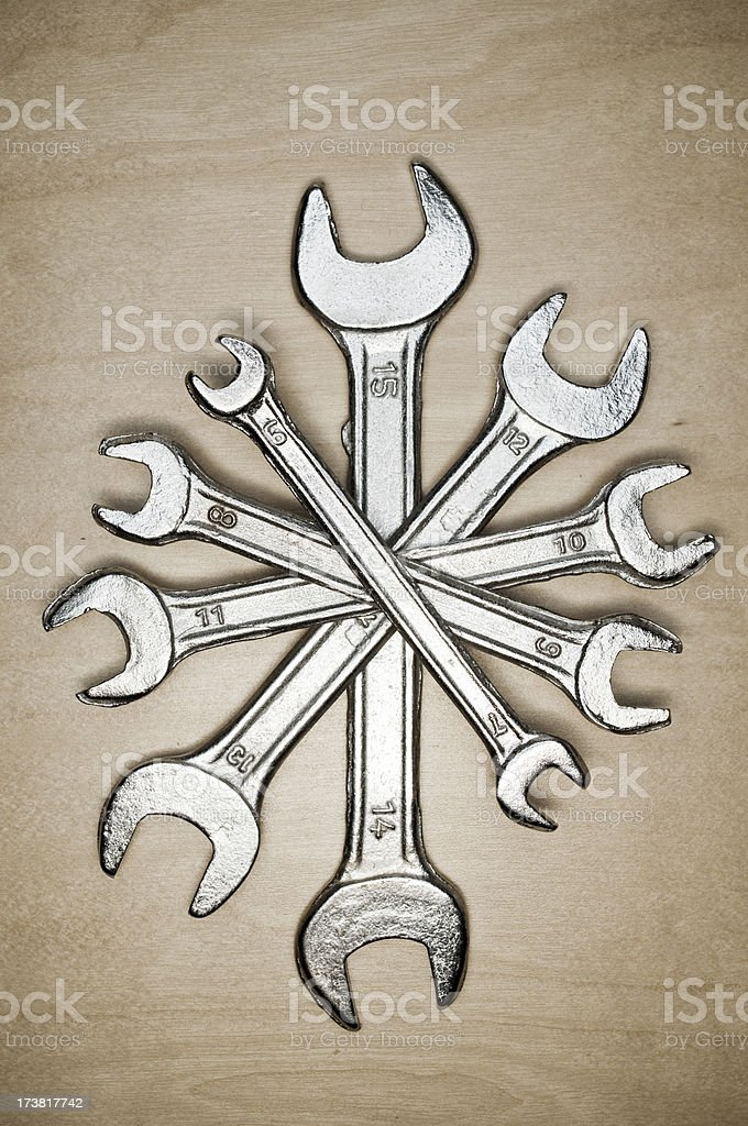 Spanner sets royalty-free stock photo