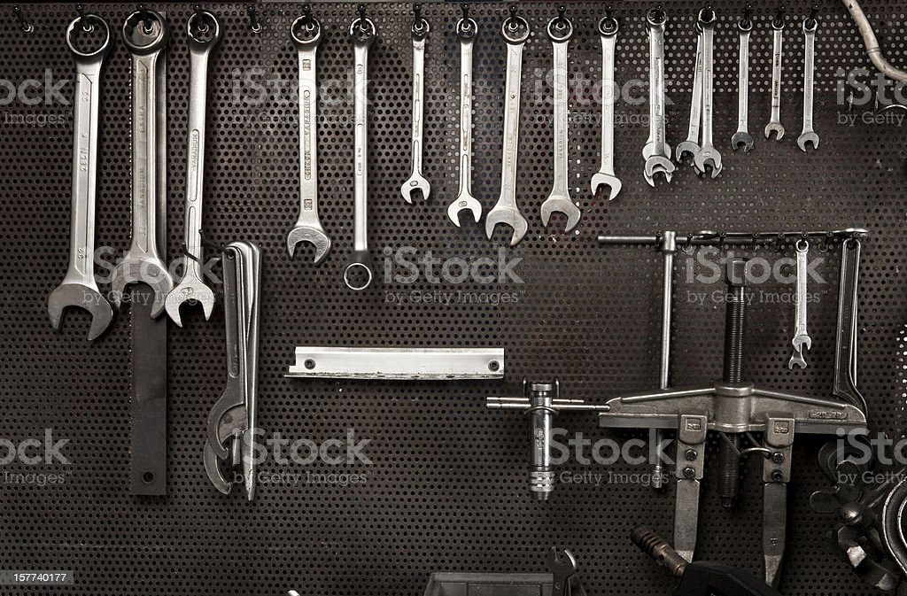 Spanners in mechanical industry royalty-free stock photo