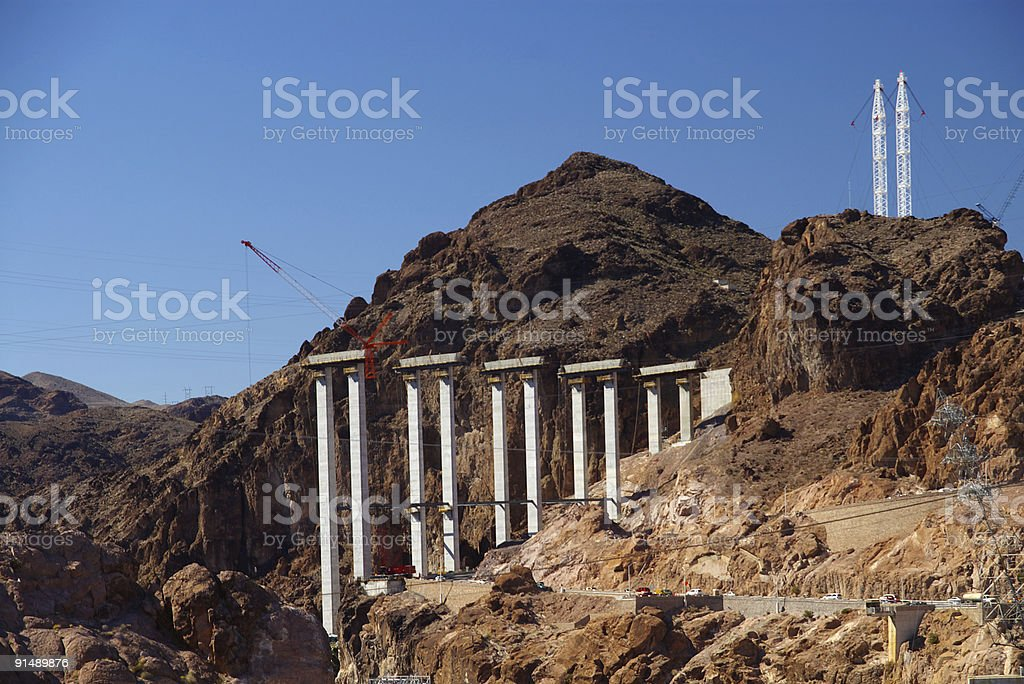 spanning the gorge royalty-free stock photo