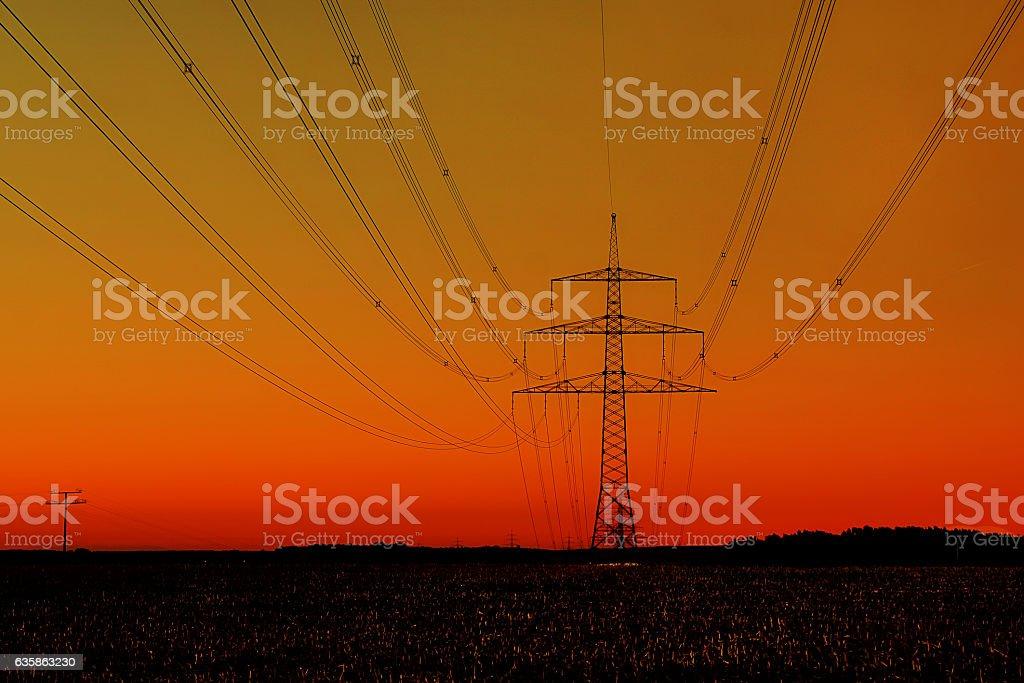 Spannung und alternative energie stock photo