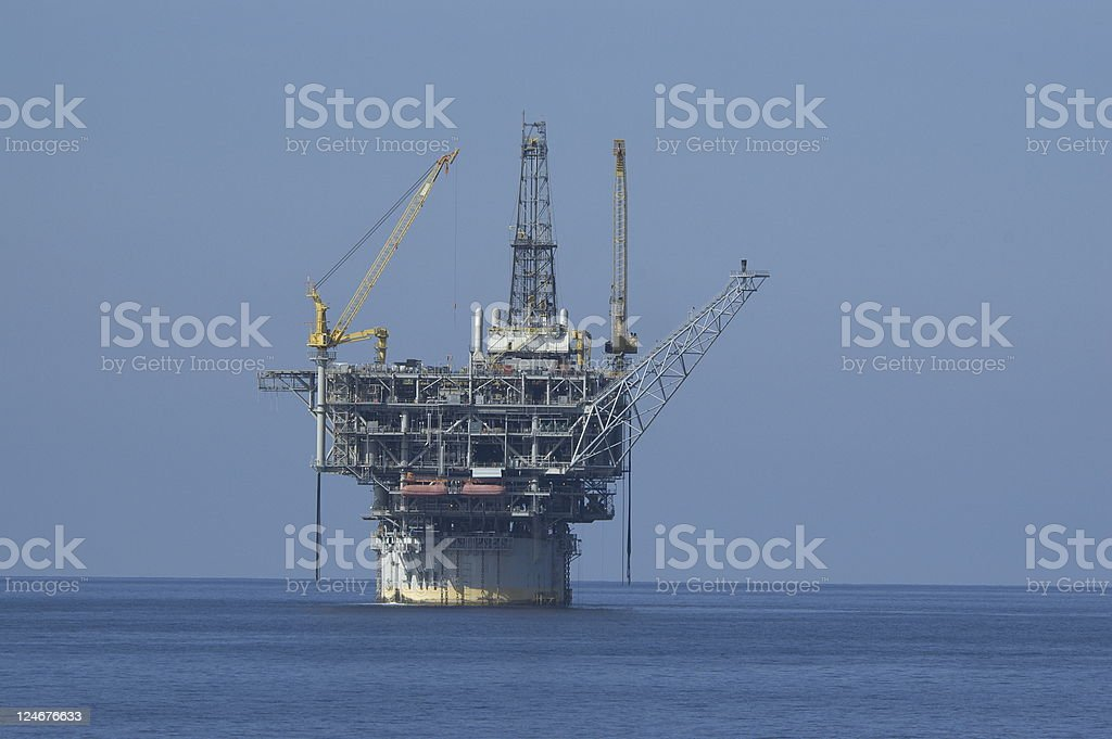 Spar Type Production Platform (oil rig) royalty-free stock photo