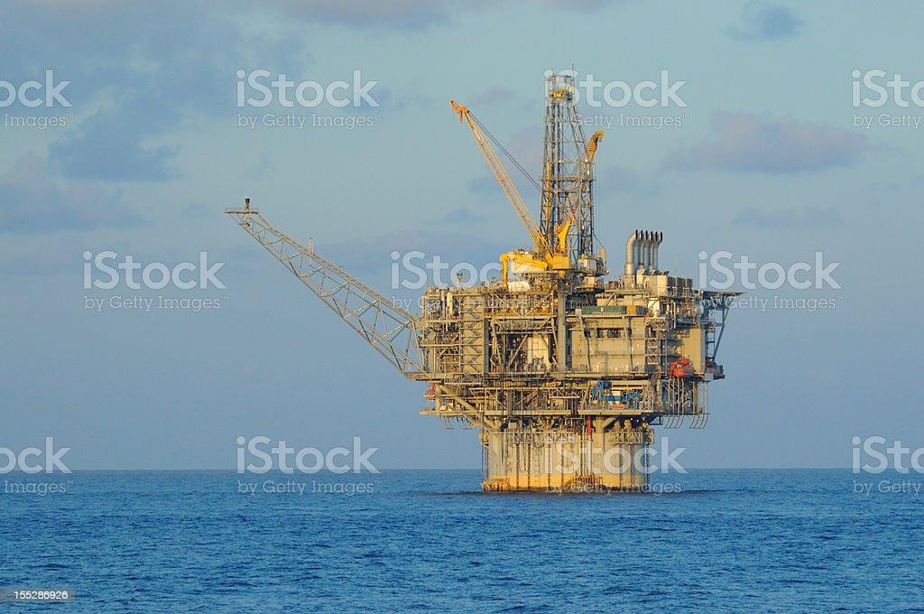 Spar Type Production Platform (oil rig) royalty-free stock photo