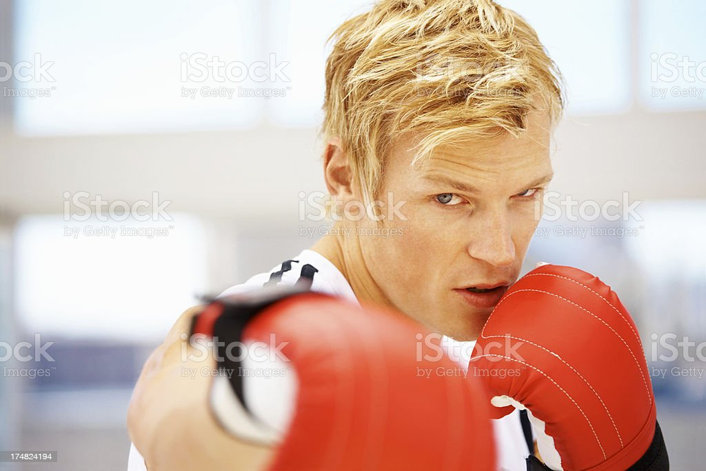 Spar with me royalty-free stock photo
