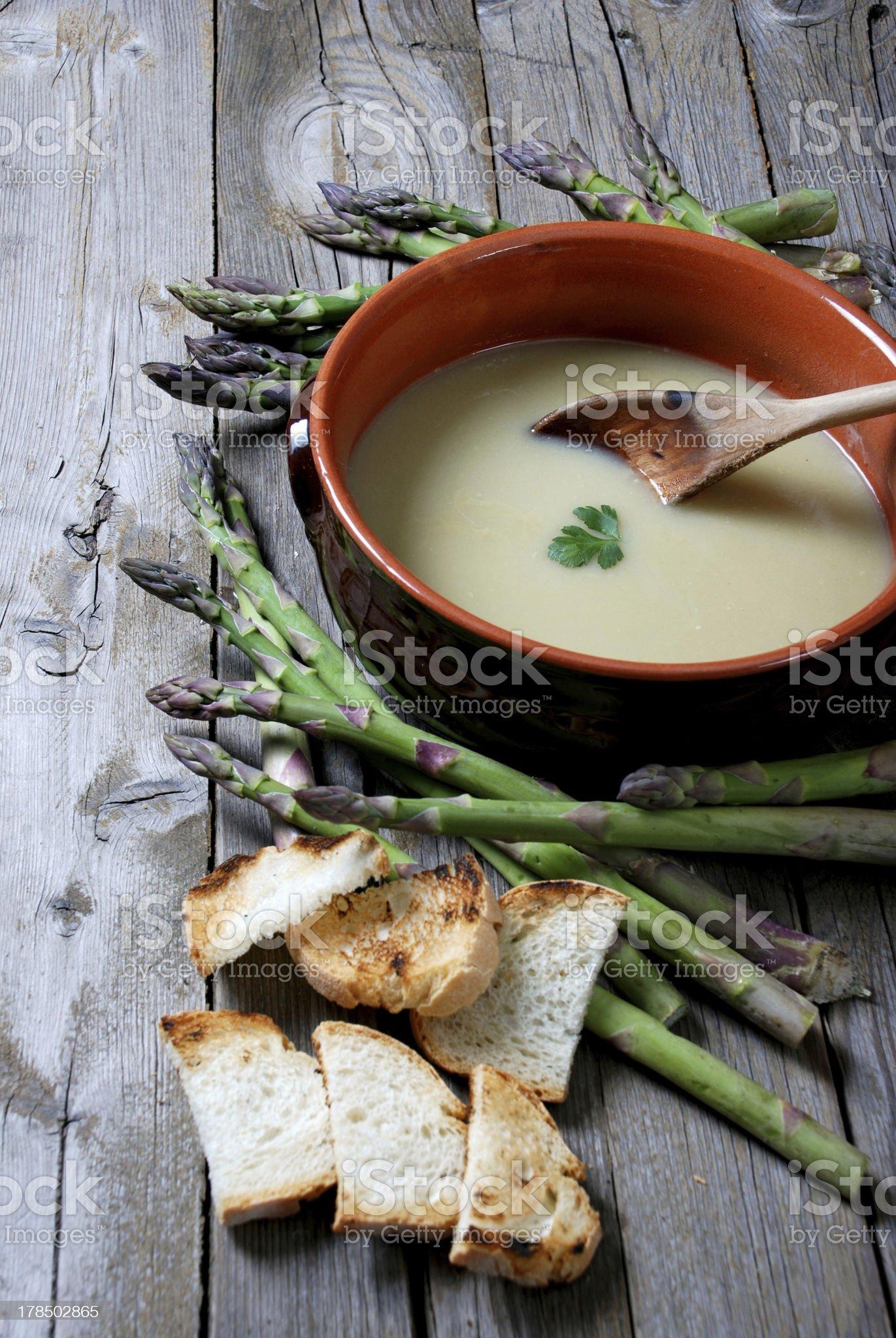 sparagous soup royalty-free stock photo