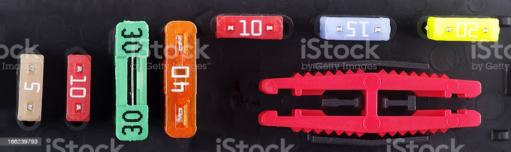 Spare Fuse Holder From Modern Vehicle stock photo