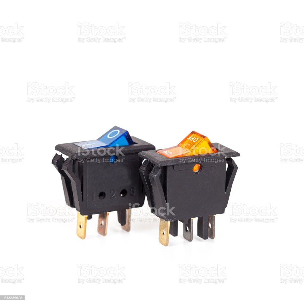 spare part of On/Off switch stock photo