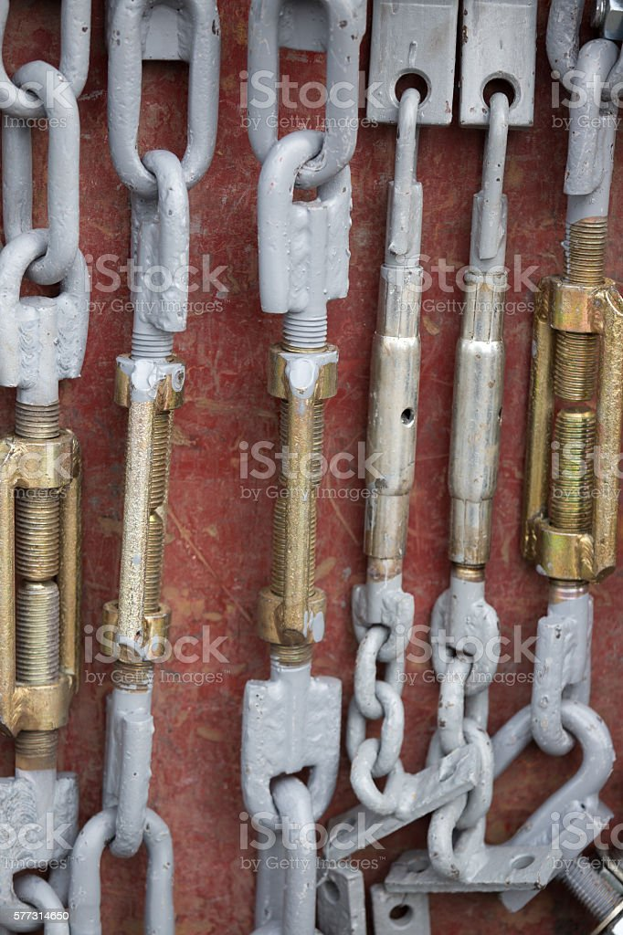 Spare parts for agricultural machinery stock photo