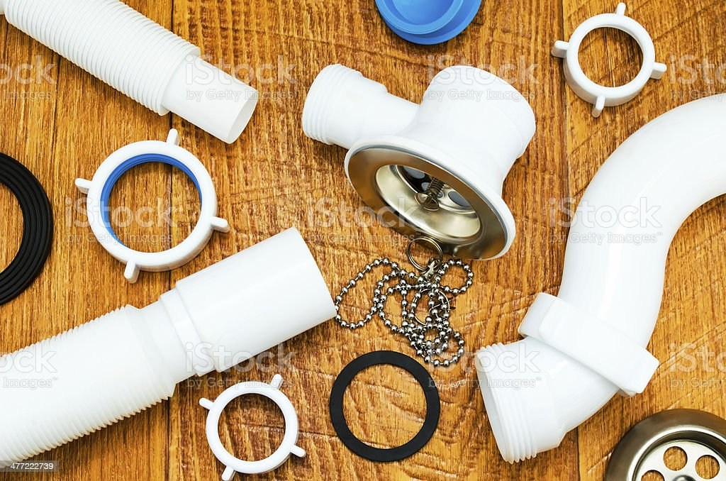Spare parts for plumbing. royalty-free stock photo