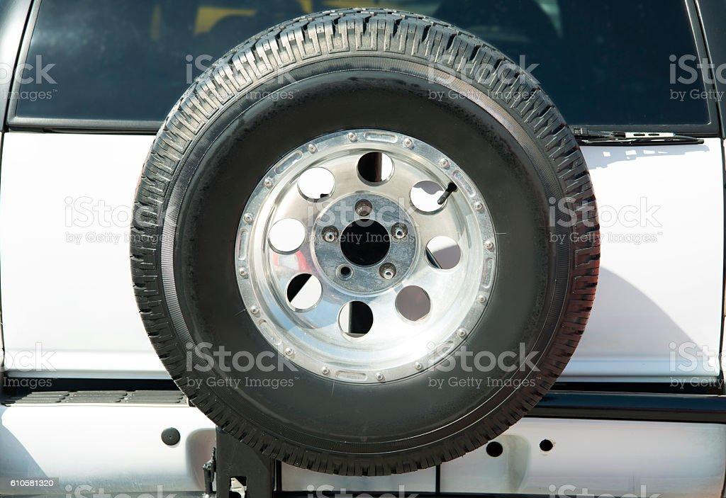 Spare Tire stock photo