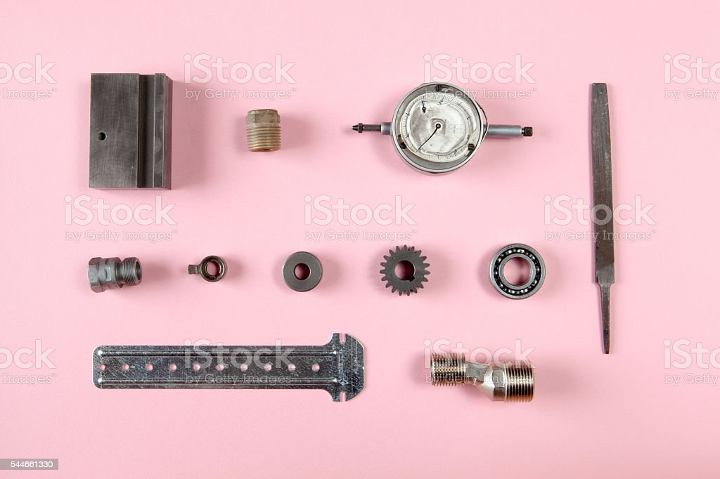 Spare very tidy industrial machinery stock photo