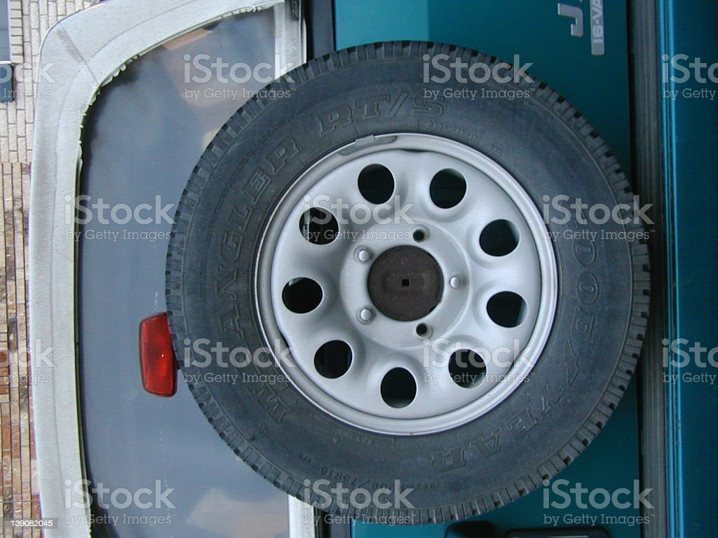 Sparetire on a truck royalty-free stock photo