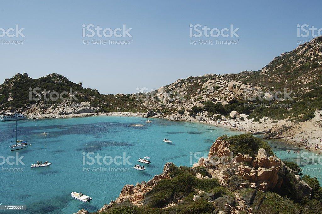 Spargi Plage in Sardinia stock photo