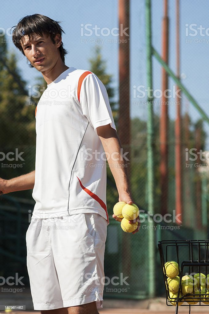 sparing partner ready to hit royalty-free stock photo