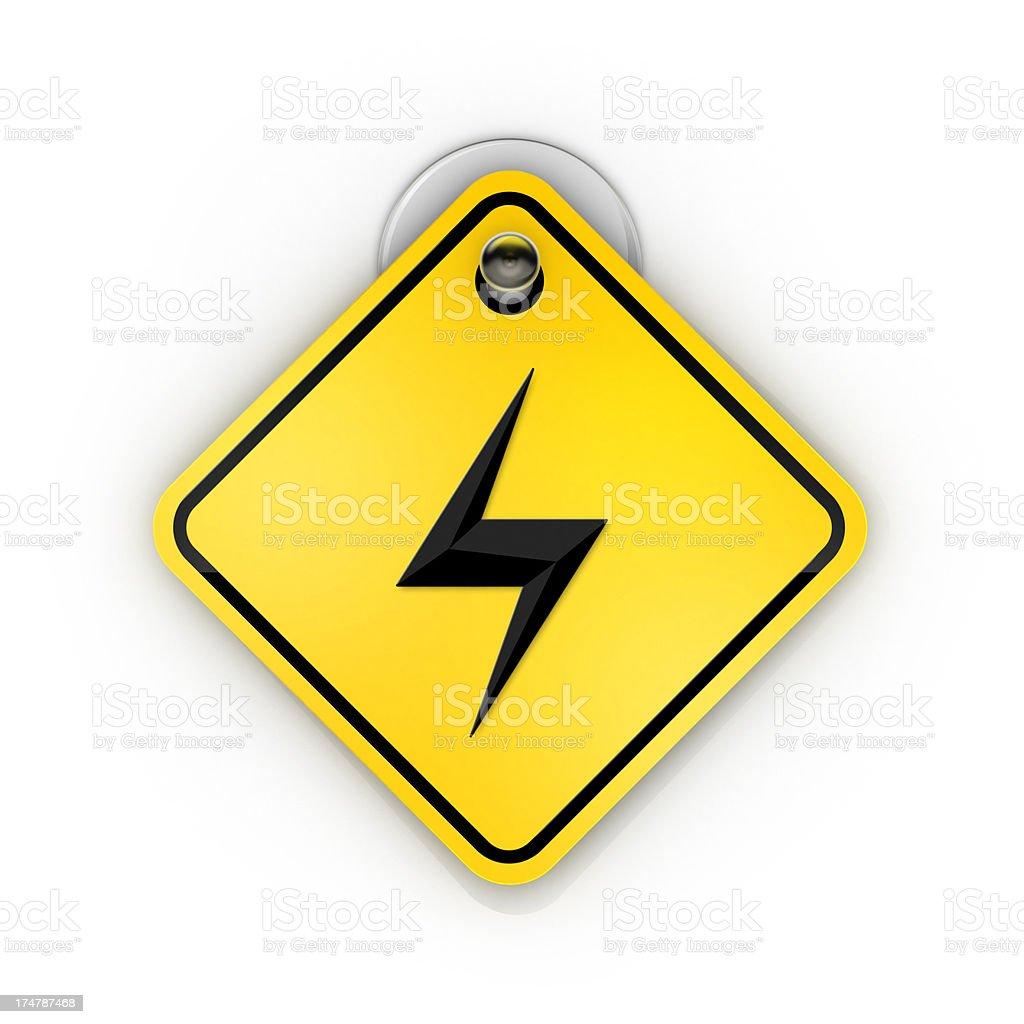 Spark Or Bolt Sticky warning stock photo