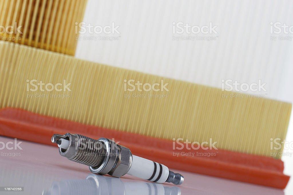 Spark plug stock photo