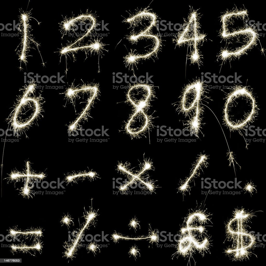 Sparking Numbers stock photo