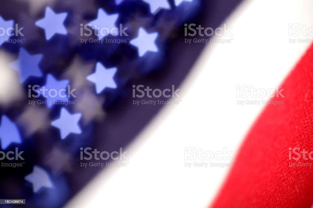 Sparkle American Flag stock photo