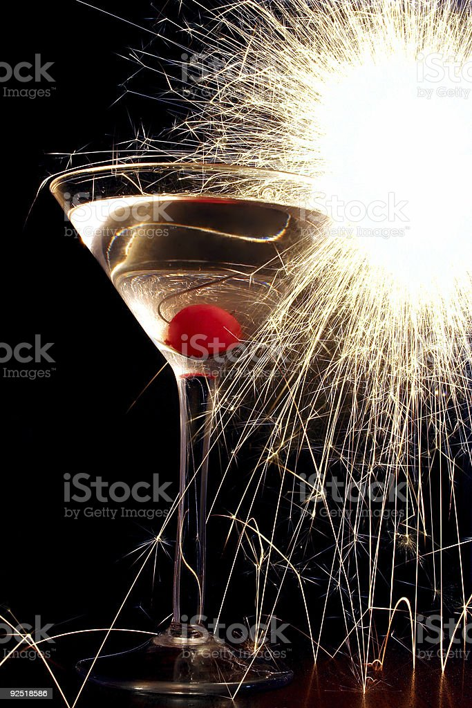 Sparkler Cocktail royalty-free stock photo
