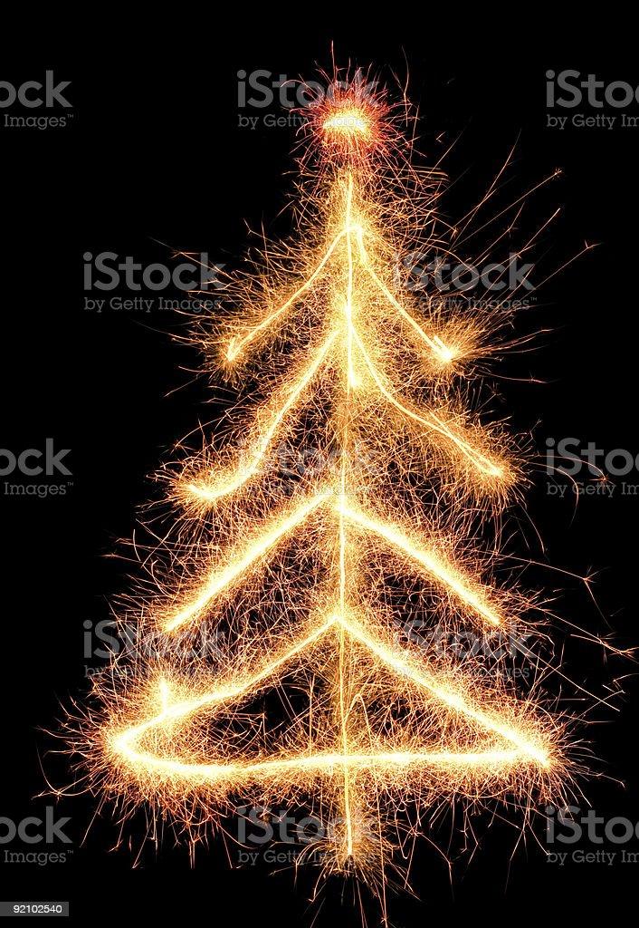 Sparkler fir royalty-free stock photo