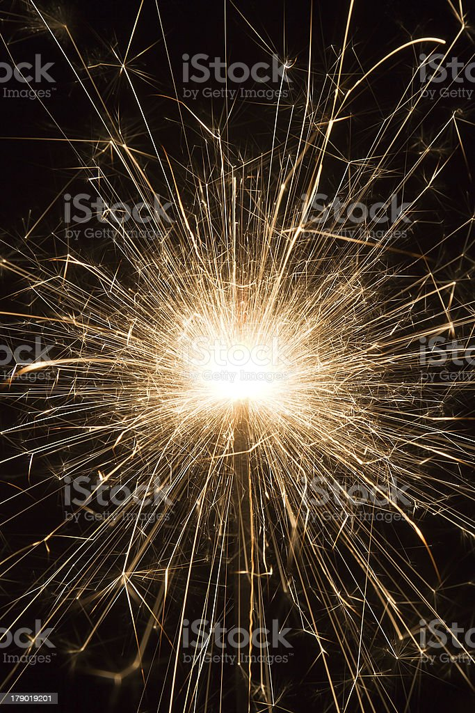 Candela magica di fuoco d'artificio foto stock royalty-free
