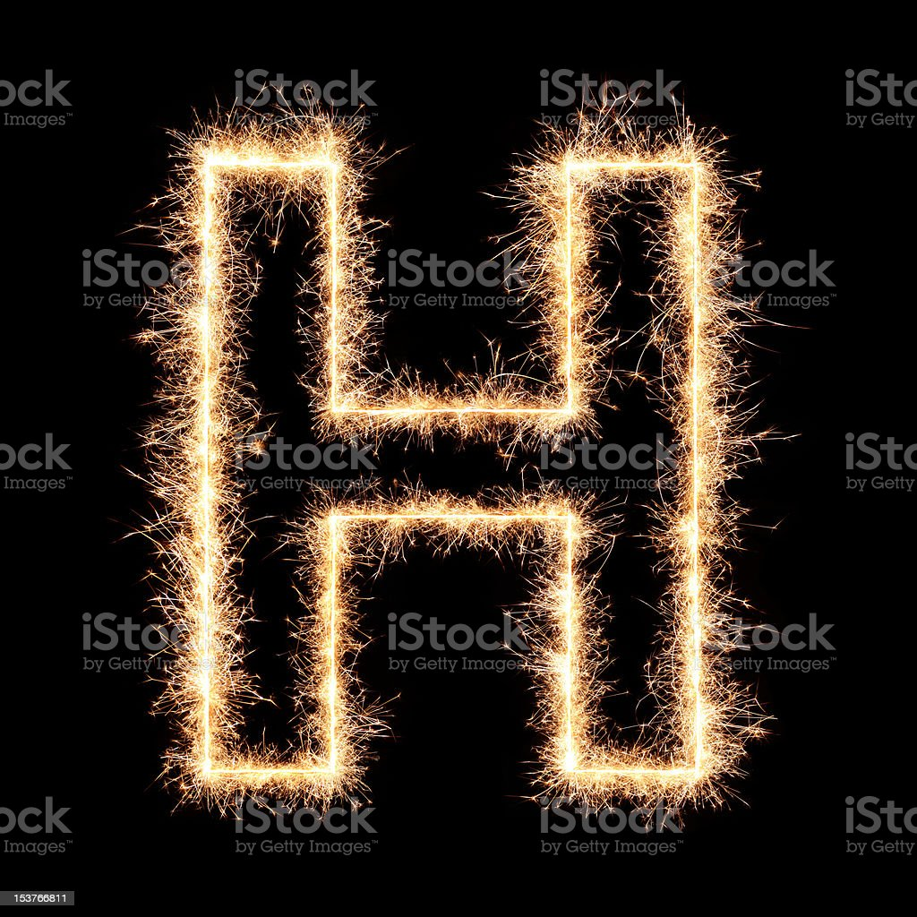 Sparkler letter royalty-free stock photo