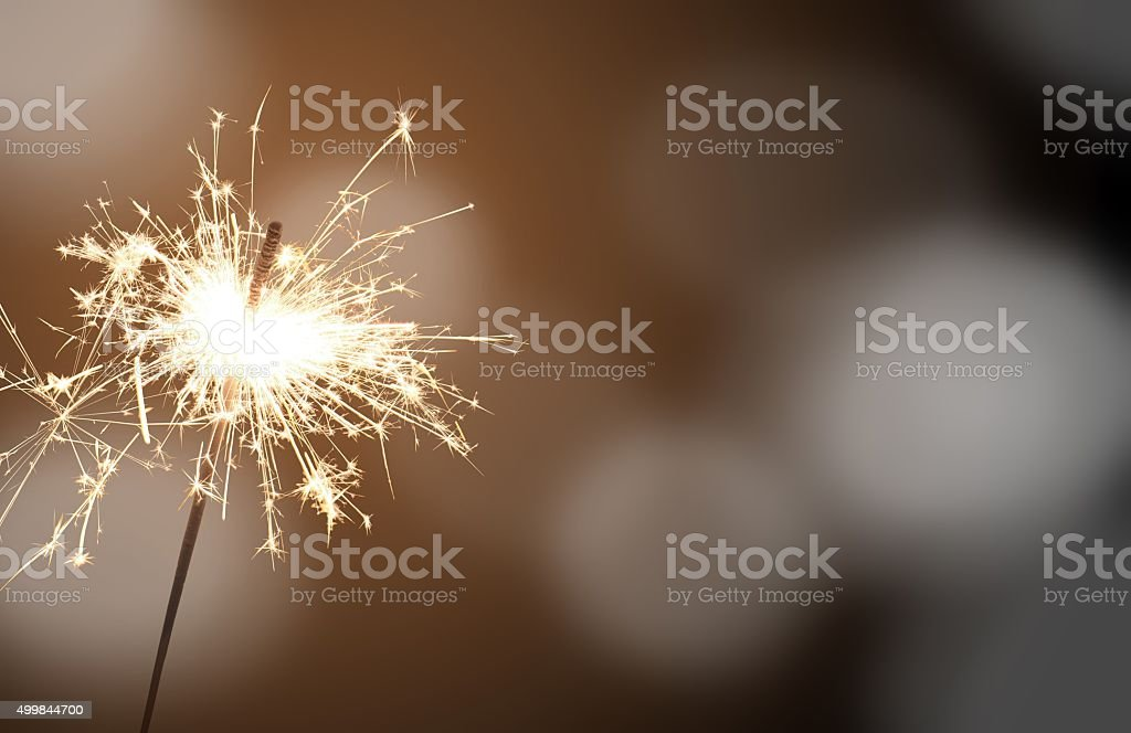 sparkler - New Year's Eve stock photo