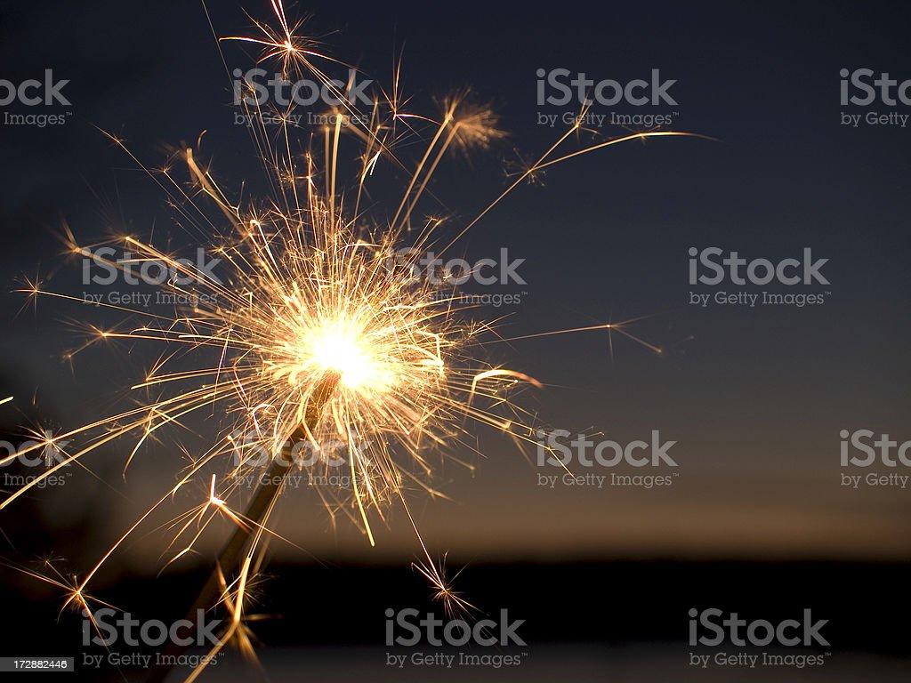 Sparkler stock photo