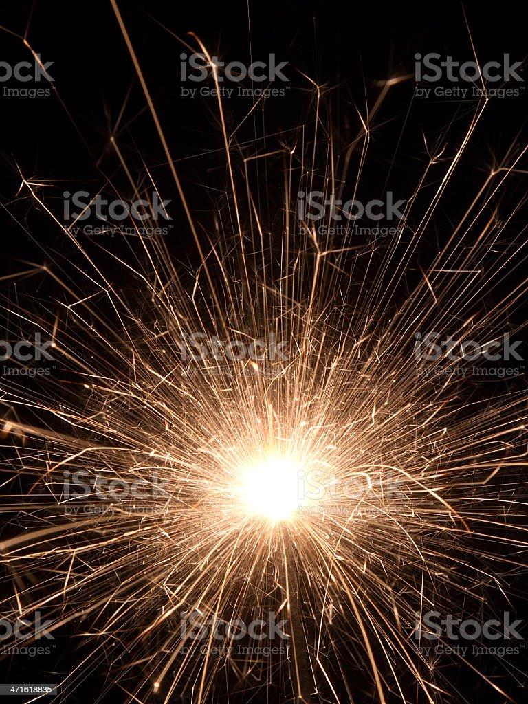 Candela magica brilla per notte foto stock royalty-free