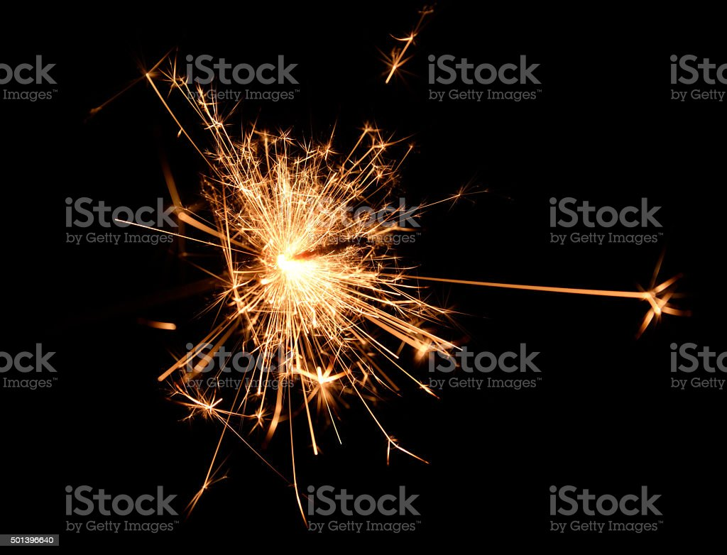 Sparkler Sparks stock photo