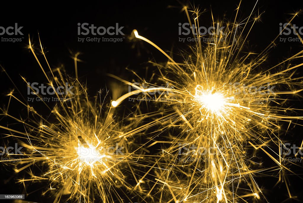 Sparklers royalty-free stock photo