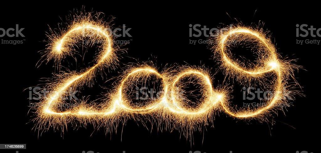 Sparkling 2009 royalty-free stock photo