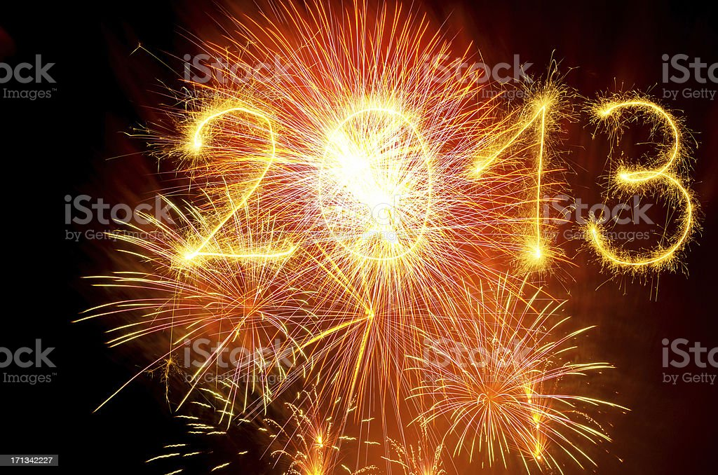 Sparkling 2013 stock photo