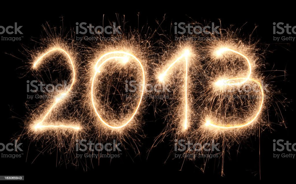 Sparkling 2013 royalty-free stock photo