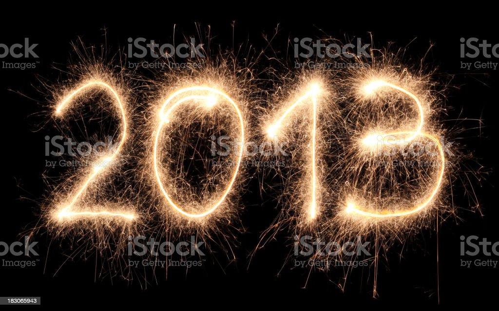 Sparkling 2013 stock photo