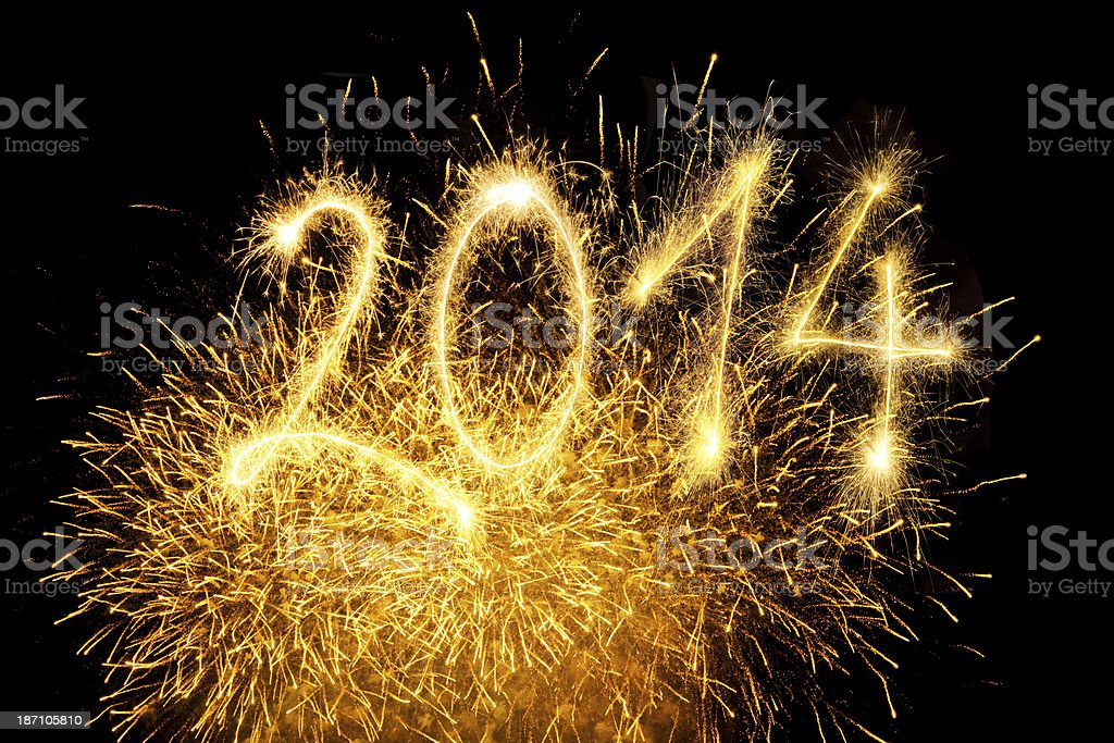 Sparkling 2014 royalty-free stock photo