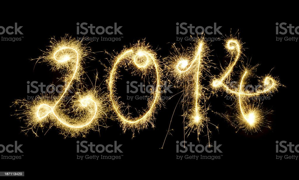 Sparkling 2014 royalty-free stock photo
