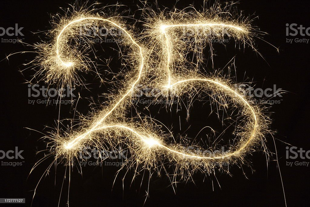 Sparkling 25 stock photo