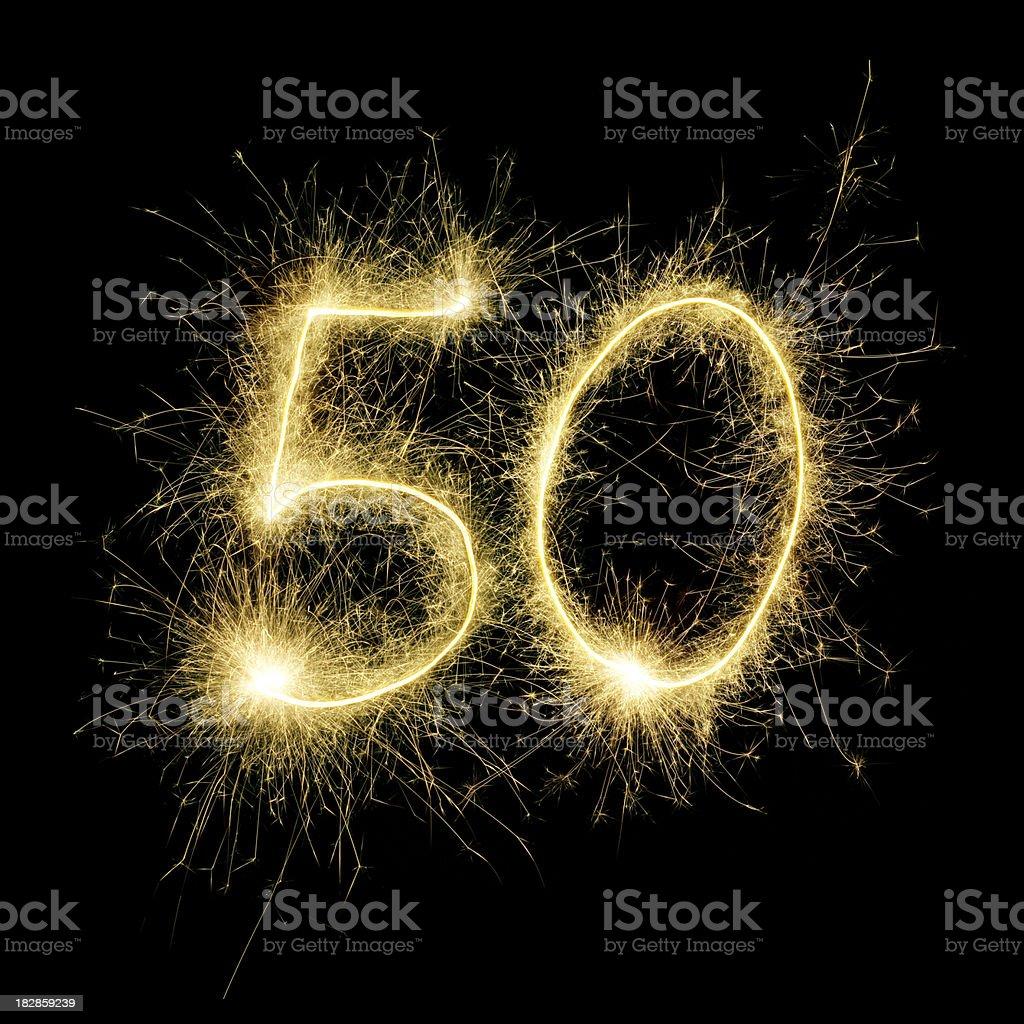 Sparkling Celebration Number Fifty stock photo