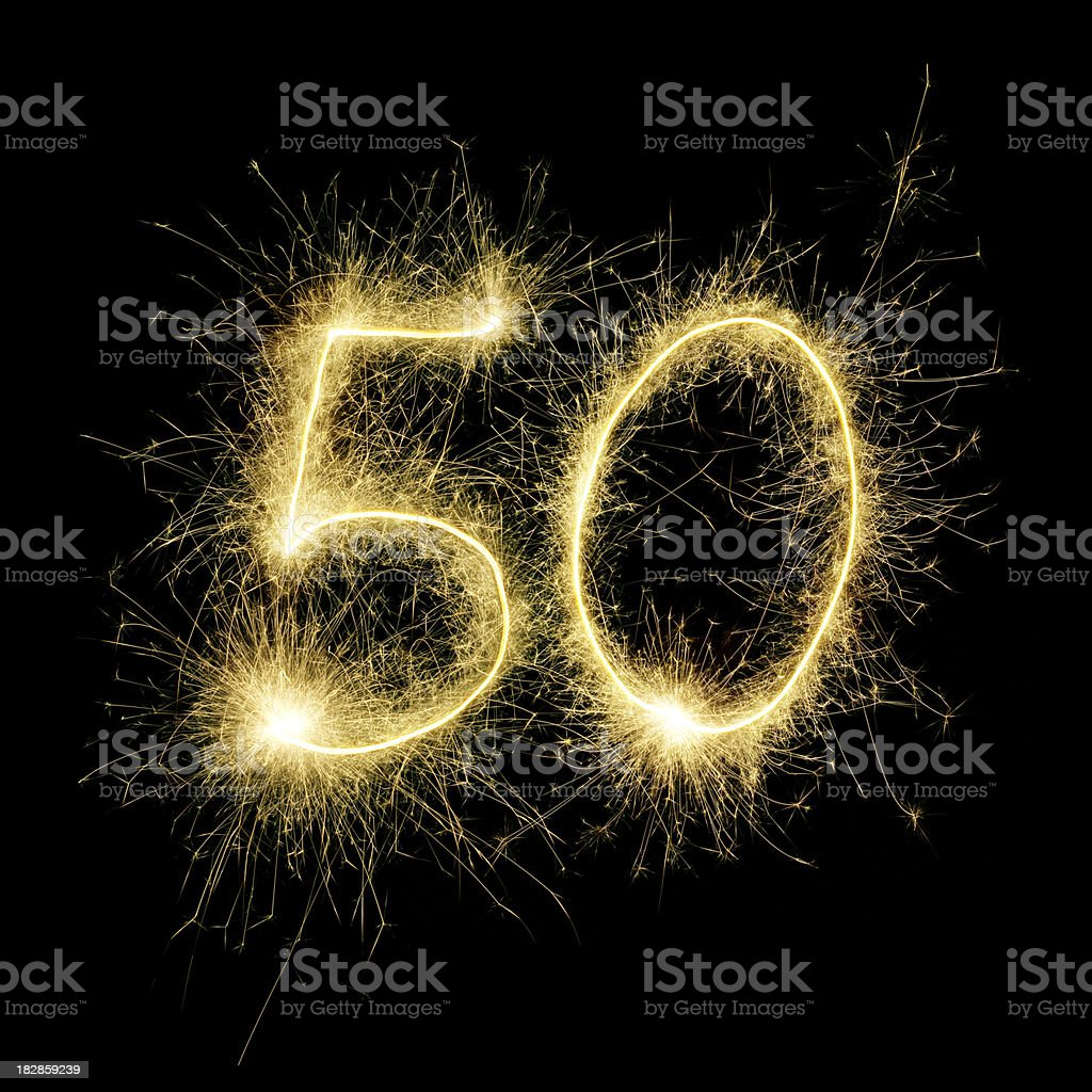 Sparkling Celebration Number Fifty stock photo
