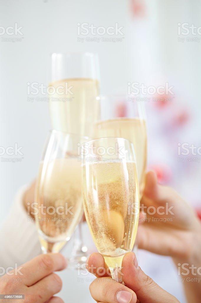 Sparkling celebration stock photo