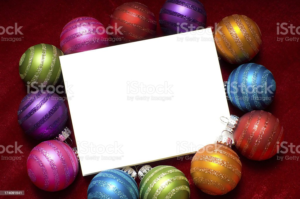 Sparkling Christmas ornaments royalty-free stock photo