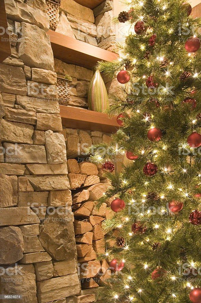 Sparkling Christmas Tree Lights royalty-free stock photo