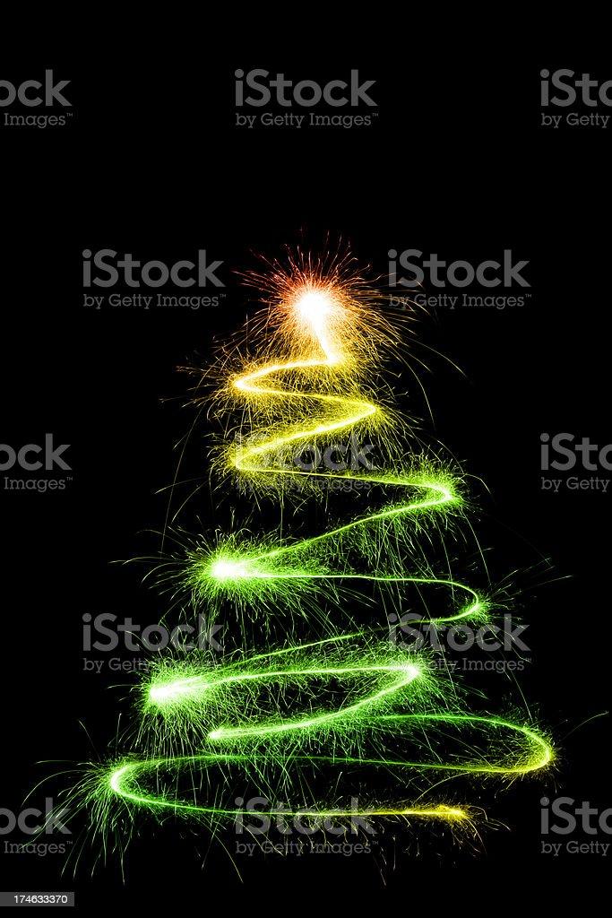 Sparkling Christmas Tree royalty-free stock photo